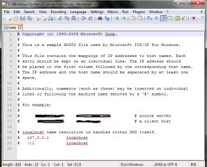 File host pada PC yang bebas akses Internetnya